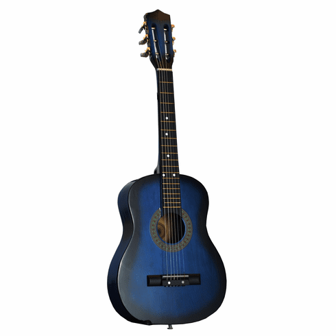 "32"" Inch Blue Kids Children Novelty Acoustic Toy Guitar"