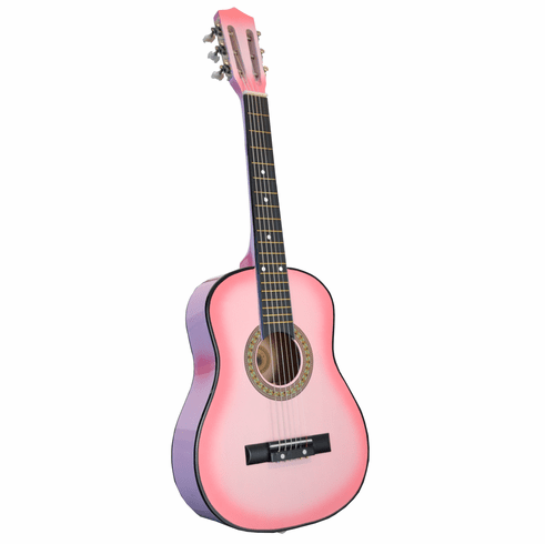 "32"" Inch Pink Kids Children Novelty Acoustic Toy Guitar"