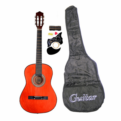 "38"" CLASSIC BROWN Acoustic Guitar Starters Beginner Package, Guitars, Gig Bag, Strap, Pitch Pipe Tuner, 2 Pick Guards, Extra String & DirectlyCheap(TM) Pick (DB-AG38) [Teacher Approved]"