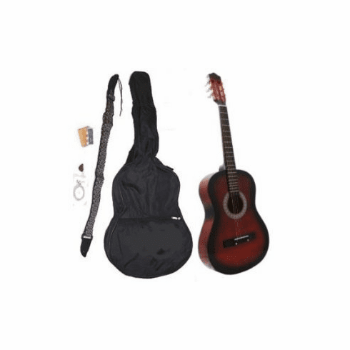 "38"" COFFEE Acoustic Guitar Starters Beginner Package, Guitars, Gig Bag, Strap, Pitch Pipe Tuner, 2 Pick Guards, Extra String & DirectlyCheap(TM) Pick (CF-AG38) [Teacher Approved]"