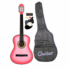 "38"" PINK Acoustic Guitar Starters Beginner Package, Guitars, Gig Bag, Strap, Pitch Pipe Tuner, 2 Pick Guards, Extra String & DirectlyCheap� Pick (PK-AG38) [Teacher Approved]"