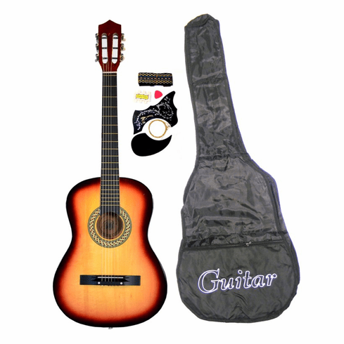 "38"" SUNBURST Acoustic Guitar Starters Beginner Package, Guitars, Gig Bag, Strap, Pitch Pipe Tuner, 2 Pick Guards, Extra String & DirectlyCheap® Pick (SK-AG38) [Teacher Approved]"