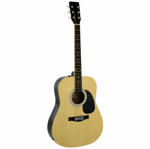 """41"""" Inch Natural Handcrafted Steel String Acoustic Guitar"""