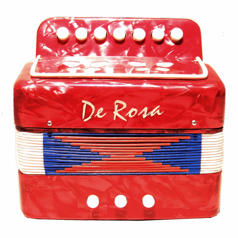 7 Key Accordion for Kids - Red