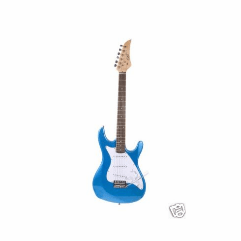 "Assassin 39"" Inch Metallic Blue Full Size Electric Guitar Beauty"