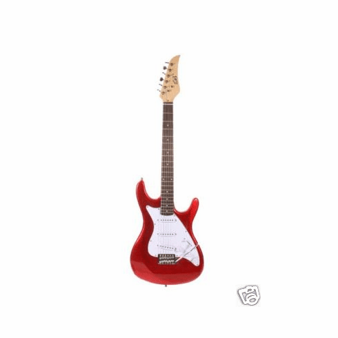 "Assassin 39"" Inch Metallic Red Full Size Electric Guitar Beauty"