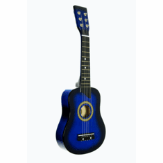 Blue Acoustic Toy Guitar for Kids with Carrying Bag and Accessories & DirectlyCheap(TM) Translucent Blue Medium Guitar Pick
