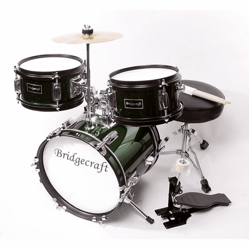 "De Rosa 16"" Inch 3 Piece Kids Children Green Drum Set Kit With Cymbals"