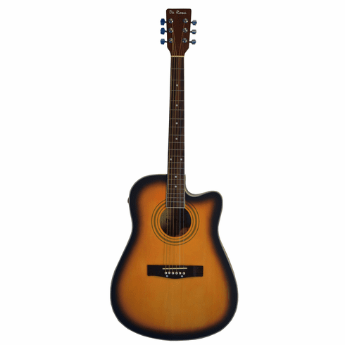 "De Rosa 41"" Inch Cutaway Acoustic Electric Guitar Sunburst with 4 EQ"