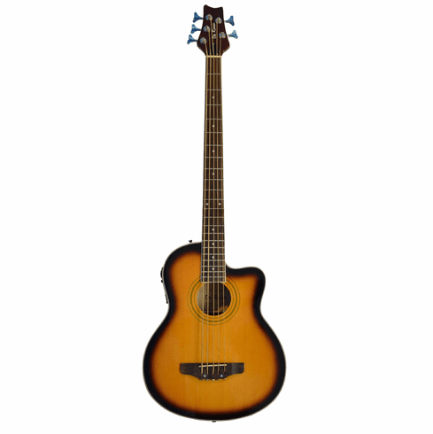 De Rosa 5 String Cutaway Acoustic Electric Bass-Sunburst