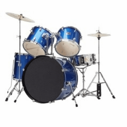 De Rosa Adult Full Size 5 Piece Blue Drum Sets