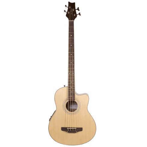 De Rosa Cutaway Acoustic Electric Bass with 4EQ - Natural