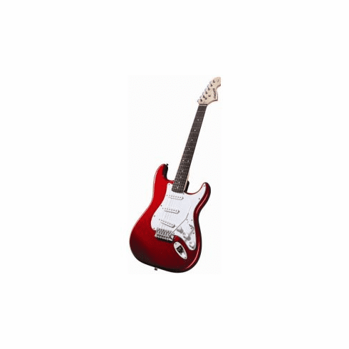 Fender Starcaster Strat Apple Red Full Size Electric Guitar