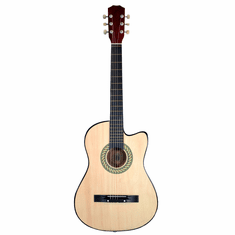 "Fret 38"" Inch Acoustic Cutaway Guitar - Natural"