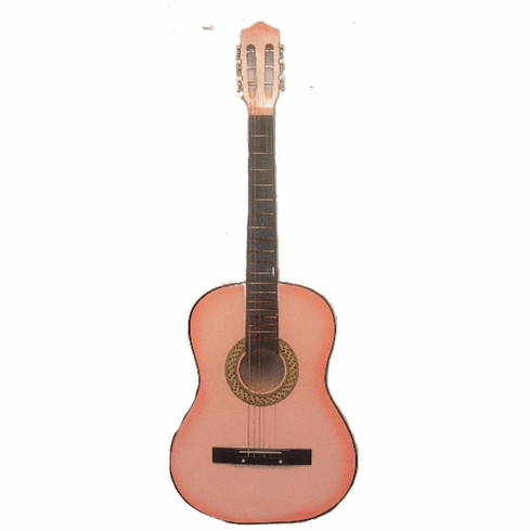 "Fret 38"" Inch Pink Student Acoustic Guitar"