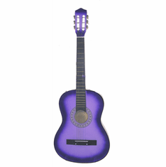 "Fret 38"" Inch Purple Student Acoustic Guitar"