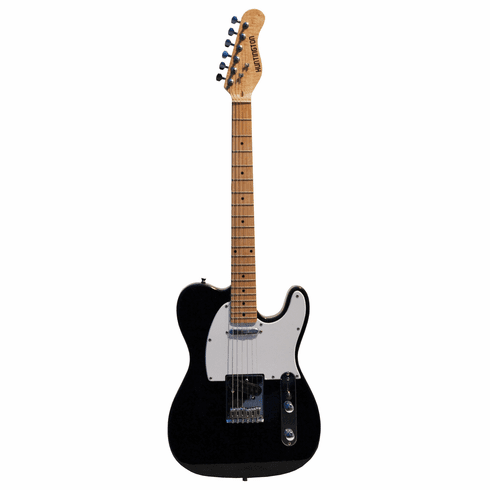 Full Size 39 Inch Black Electric Guitar [Telecaster Style] with Free Carrying Bag and Strap, & DirectlyCheap(TM) Translucent Blue Medium Guitar Pick