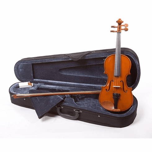 Full Size 4/4 Natural Violin Fiddle With Case And Bow