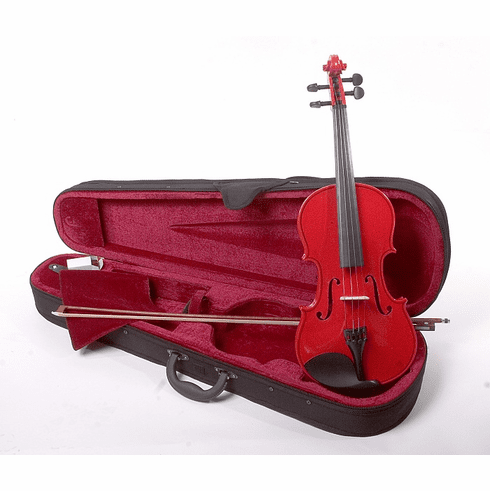 Full Size 4/4 Red Violin Fiddle With Case And Bow