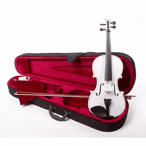 Full Size 4/4 White Violin Fiddle With Case And Bow
