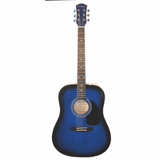 """Full Size 41"""" Blue Premium Dreadnought Steel String Acoustic Guitar with Free Carrying Bag and Accessories (Guitar, Case, Strap & DirectlyCheap(TM) Translucent Blue Medium Guitar Pick)"""