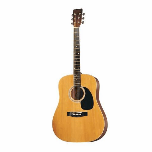 """Full Size 41"""" NATURAL Premium Dreadnought Steel String Acoustic Guitar with Free Carrying Bag and Accessories (Guitar, Case, Strap & DirectlyCheap(TM) Translucent Blue Medium Guitar Pick)"""