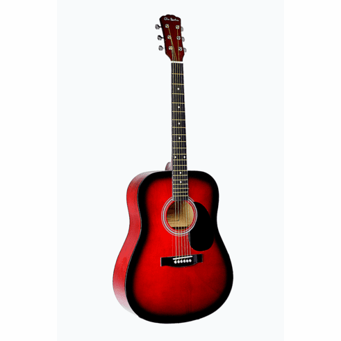 "Full Size 41"" Red Premium Dreadnought Steel String Acoustic Guitar with Free Carrying Bag and Accessories & DirectlyCheap(TM) Translucent Blue Medium Guitar Pick"