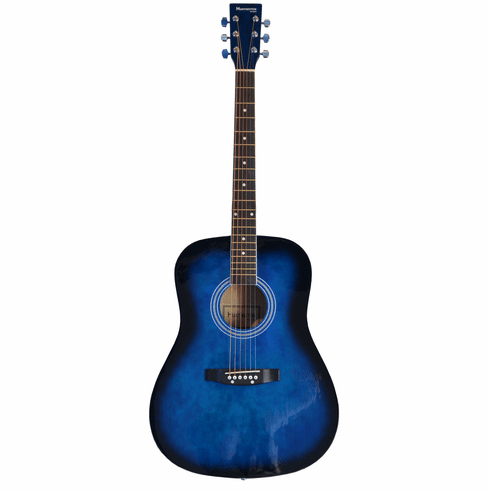 Full Size Dreadnought BLUE Acoustic Guitar with Free Carrying Bag and Accessories & DirectlyCheap(TM) Translucent Blue Medium Guitar Pick 41-Pro-Pack
