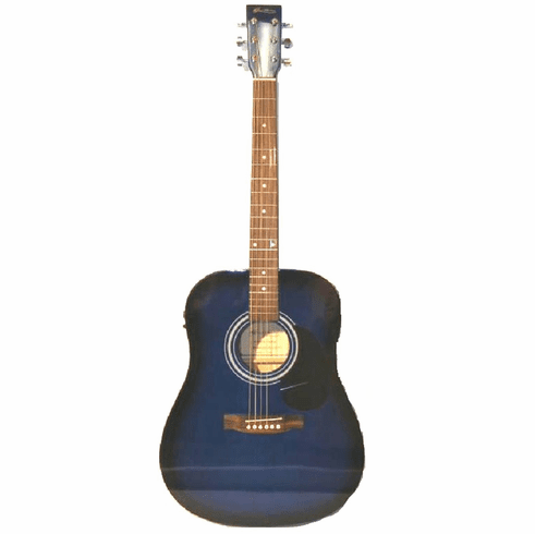 Glen Burton 41 Inch Full Size Blue Acoustic Electric Guitar