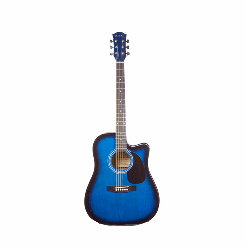 Glen Burton 41 Inch Full Size Blue Cutaway Acoustic Electric with 4 Band Eq System