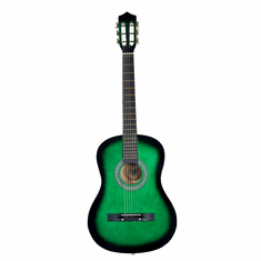 Green Acoustic Guitar with Green Harmonica