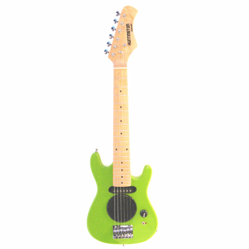 """Huntington 30"""" Inch Kids Electric Guitar with Built in Amp - Green"""