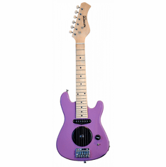 """Huntington 30"""" Inch Kids Electric Guitar with Built in Amp - Purple"""