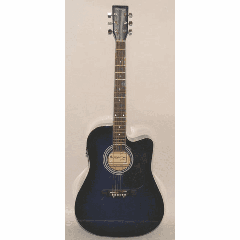 "Huntington 41"" Inch Cutaway Acoustic Electric Guitar Blue Burst"