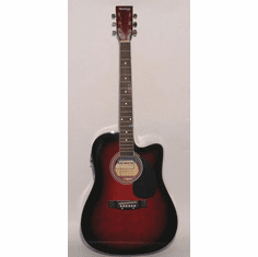 """Huntington 41"""" Inch Cutaway Acoustic Electric Guitar Wine Red Burst"""