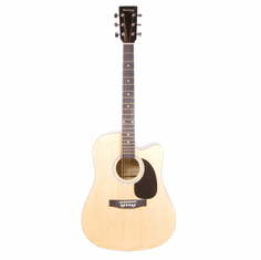 """Huntington 41"""" Inch Natural Handcrafted Steel String Cutaway Acoustic Guitar"""