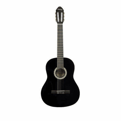 "Huntington Black 39"" Inch Student Classical Nylon String Beginner Guitar"