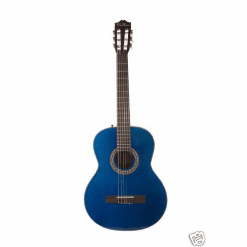 """Huntington Nylon String 41"""" Inch Blue Classical Limited Edition Full Size Guitar"""