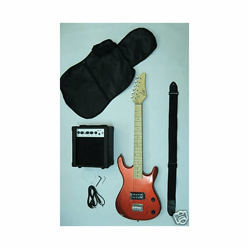 Junior Red Kids Mini 3/4 Size Electric Guitar Amp Starter Pack
