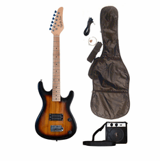 Junior Sunburst Kids Mini 3/4 Size Electric Guitar and Amplifier Starter Pack