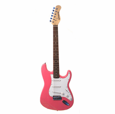 "Outlaw by Huntington 39"" Inch Full Size Electric Guitar Metallic Pink"