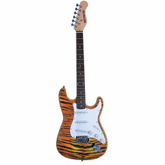 "Outlaw by Huntington 39"" Inch Full Size Electric Guitar Tiger"