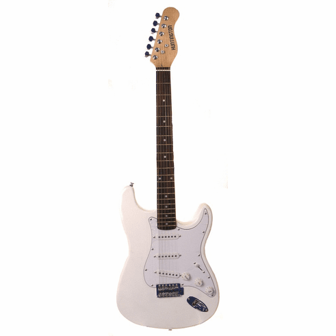 "Outlaw by Huntington 39"" Inch Full Size Electric Guitar White"