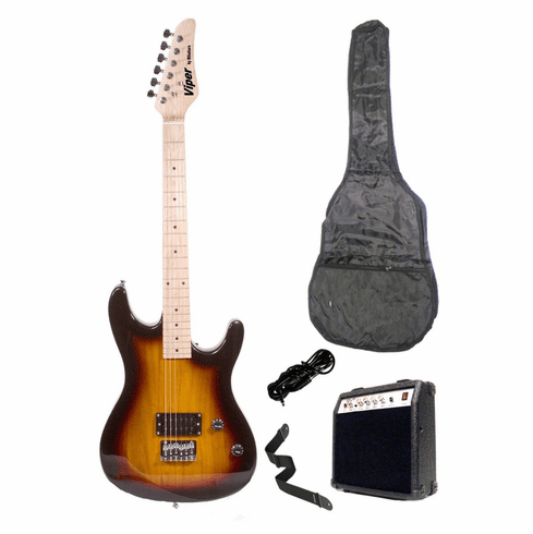 """Viper 39"""" Inch Full Size Sunburst Electric Guitar with 10 Watt Amp Package"""