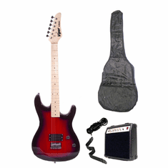 "Viper 39"" Inch Full Size Wine Red Electric Guitar with 10 Watt Amp Package"