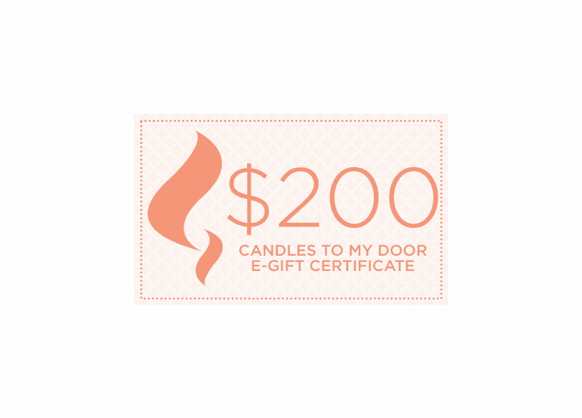 $200 Candles To My Door e-Gift Certificate