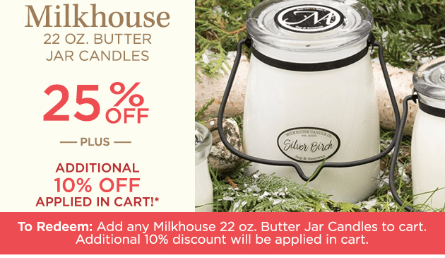 22 oz. Butter Jar Candles by Milkhouse Candle Creamery