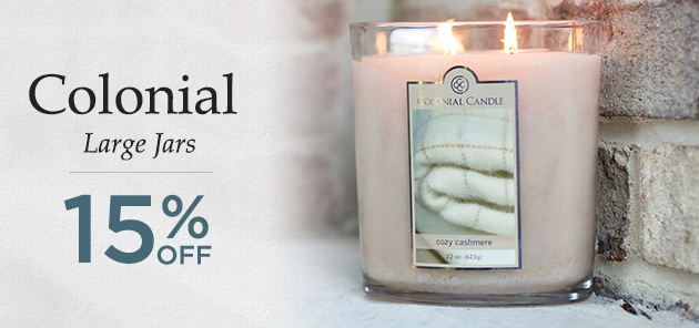 22 oz. Oval Jar Colonial Candle