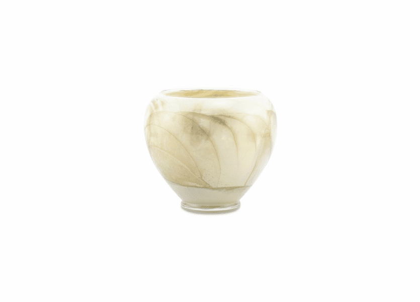 "6"" Ivory Esque Polished Vase Candle"