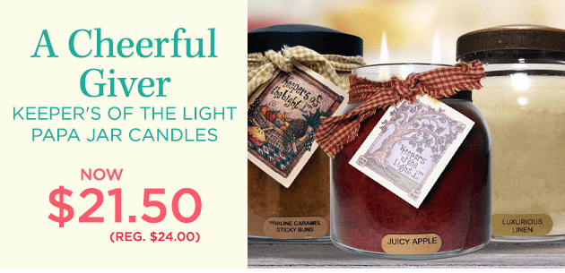 A Cheerful Giver Candles
